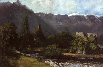 Le Glacier landscape Gustave Courbet river Oil Paintings